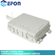 Waterproof cable junction box large white wall mount or pole mount pv junction box