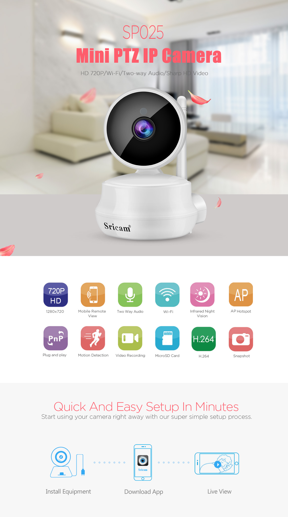 Sricam New wireless megapixel Security Camera System Wireless IP Camera NVR wifi cctv camera  with Night Vision.jpg