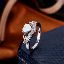 Engagement Wedding Ring heart design finger new model ring