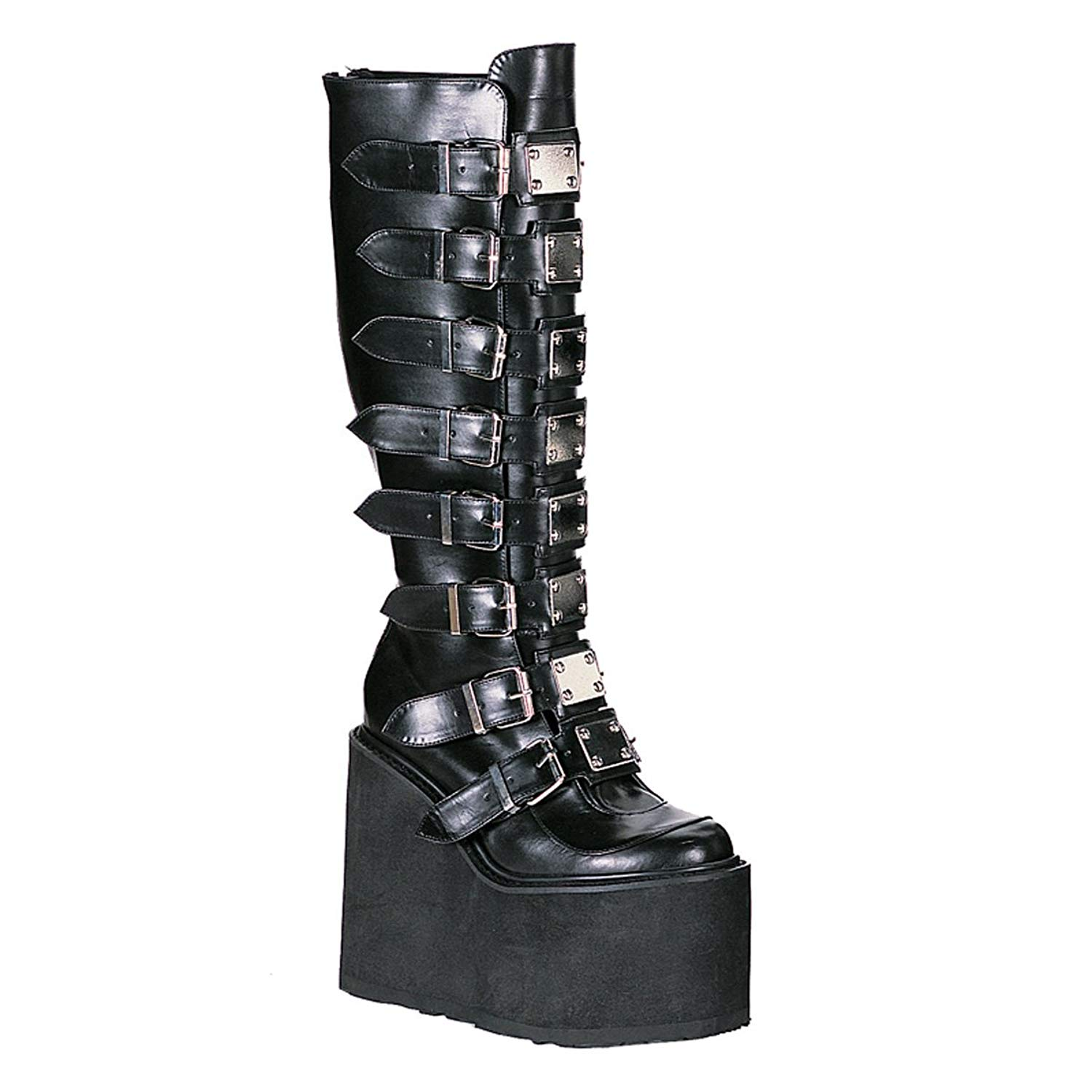 bbeedbdf1e6f Get Quotations · Summitfashions 5 1/2 Inch Platform Boots Trendy Knee High  Boots Gothic Boots Black Boots