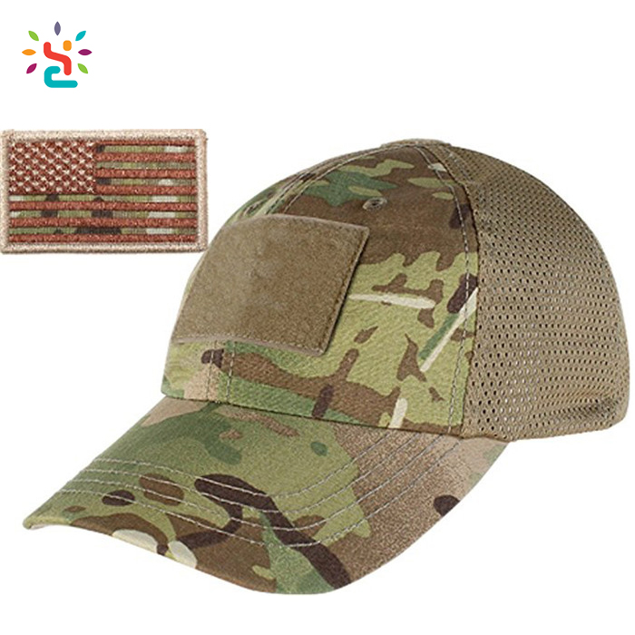 Custom Forest Camo Tactical Trucker Cap Mesh Hat Adjustable Camouflage Field Tactical Hat Army Baseball Cap Camo