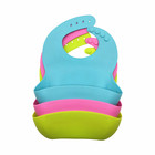 Soft Waterproof Silicone Baby Bib with Food Catcher, Baby Silicone Bib