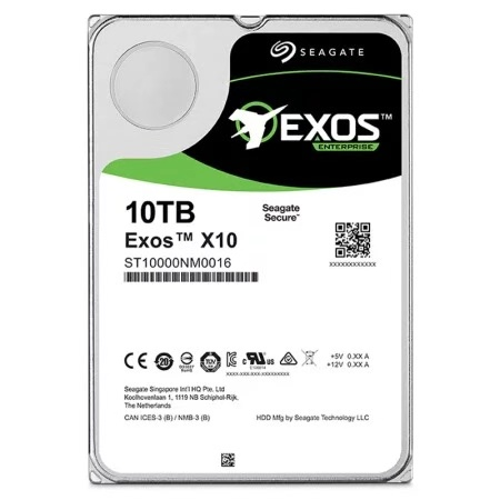 Nuovo originale! 10 T SEAGATE ExosX10 512e SATA 6 Gb/s Enterprise 7200 RPM 256 M 3.5in HDD ST10000NM0016