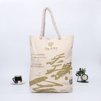 Customized logo color hot sale canvas material and folding style cotton bag cheap tote reusable shopping bag
