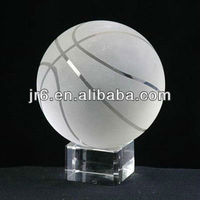 Optic Glass Crystal basketball 150mm Souvenir