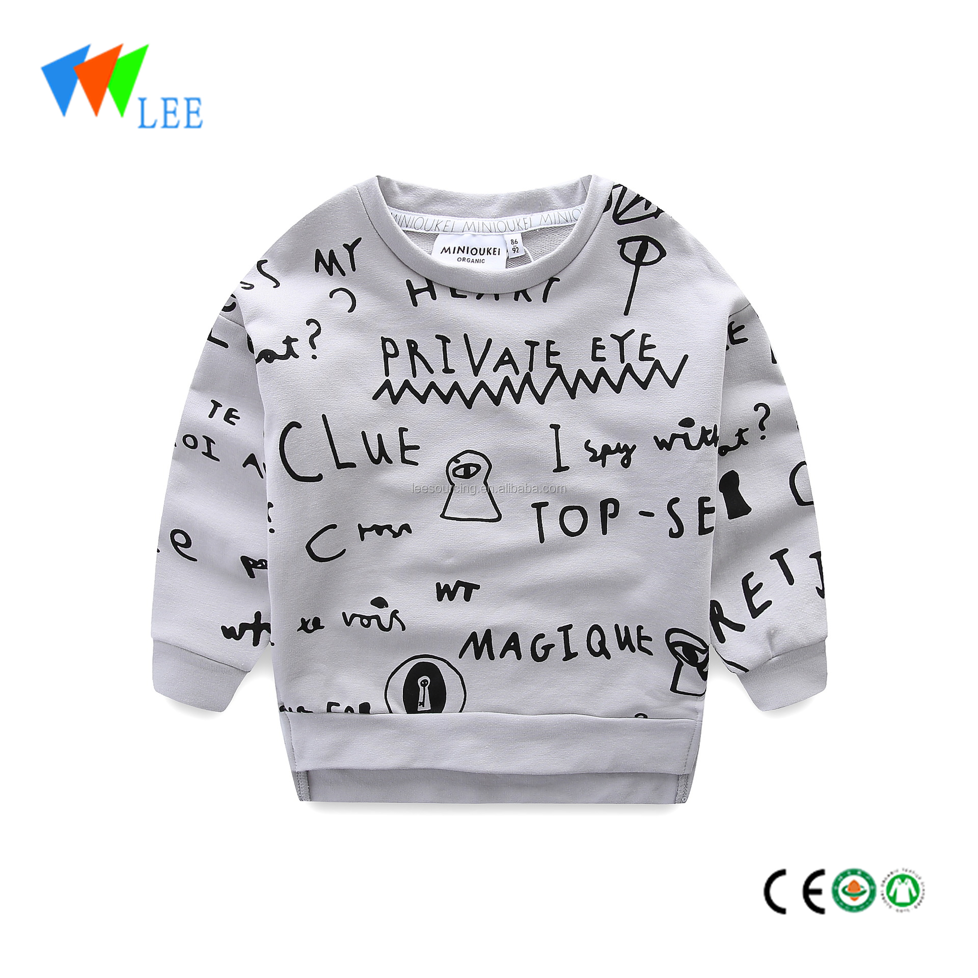 New design baby boy hoodies sweatshirt children printing custom crewneck sweatshirt kids winter clothes