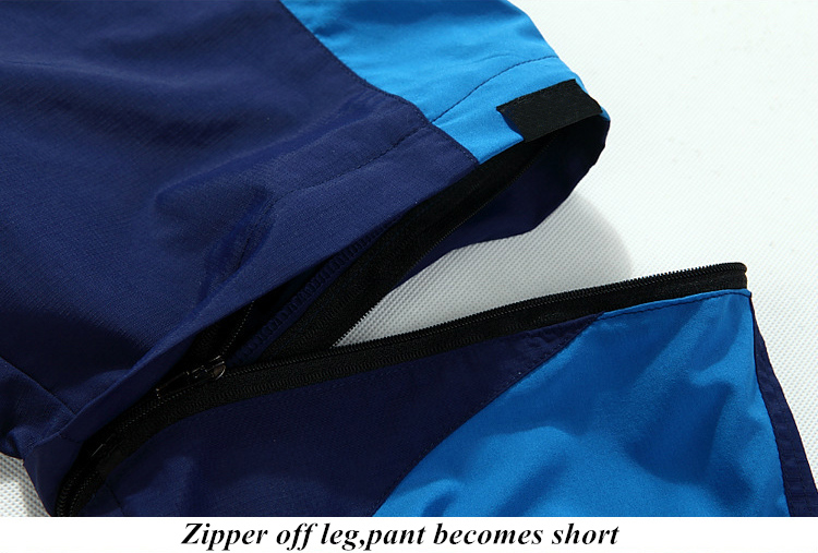 Women's Lightweight Thin Convertible Trekking Pants Zip Off Shorts Quick Dry Hiking Trousers