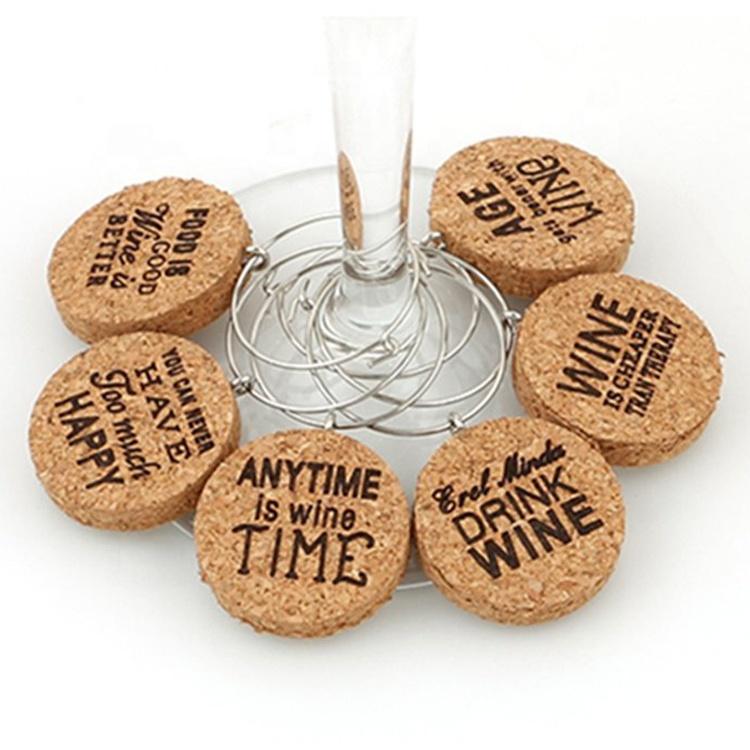 2018 Unique Design Wholesale Cork Wine Charms, Brown