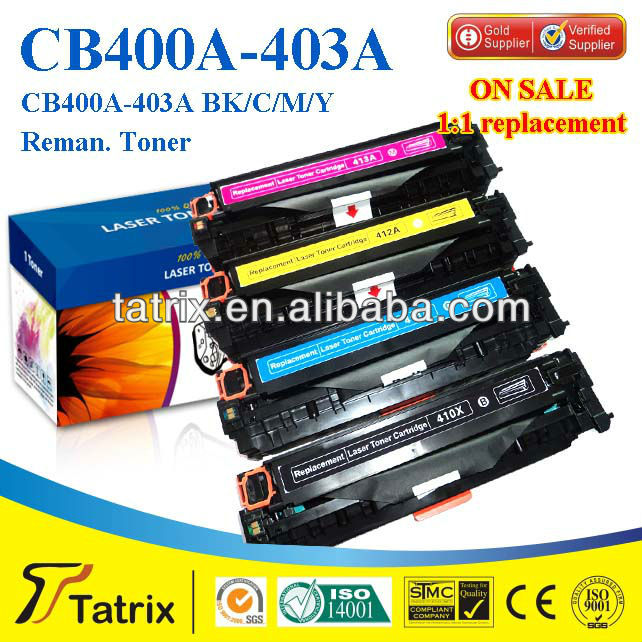 Reman Toner Cartridge CB400A for HP , Top-Rate Reman Toner Cartridge for HP CB400A , Save UP About 70% Toner Cost.
