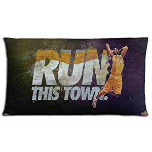 Zippered Bedding Pillow Covers Cases Comfort Pillow Protector Kobe Bryant Polyester & Cotton 20x36(inch) 50x90(cm)