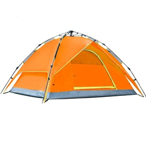 NKAT6507 Orange Inflatable Camping Bed Tent Automatic Camping Tent Outdoor