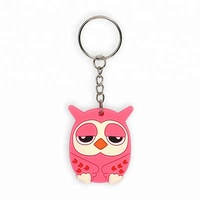 Custom Owl Keychain PVC Soft Rubber Key Chain