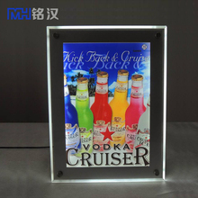 Acrylic Material Large Size Snap Frame Light Box+Led Picture Frame Crystal Light Box Acrylic
