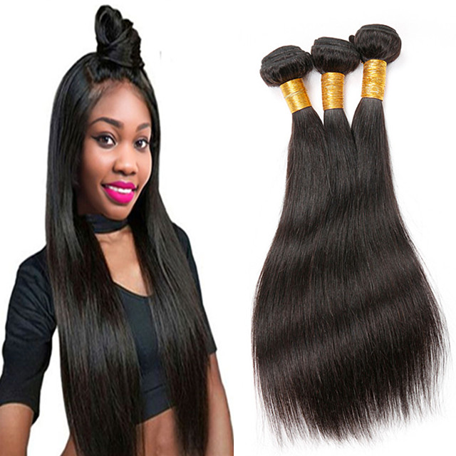 High Quality 11A 12A Grade Fashion Popular Pure Cuticle Intact Aligned Raw Remy Indian Straight Hair Bundle, Natural color