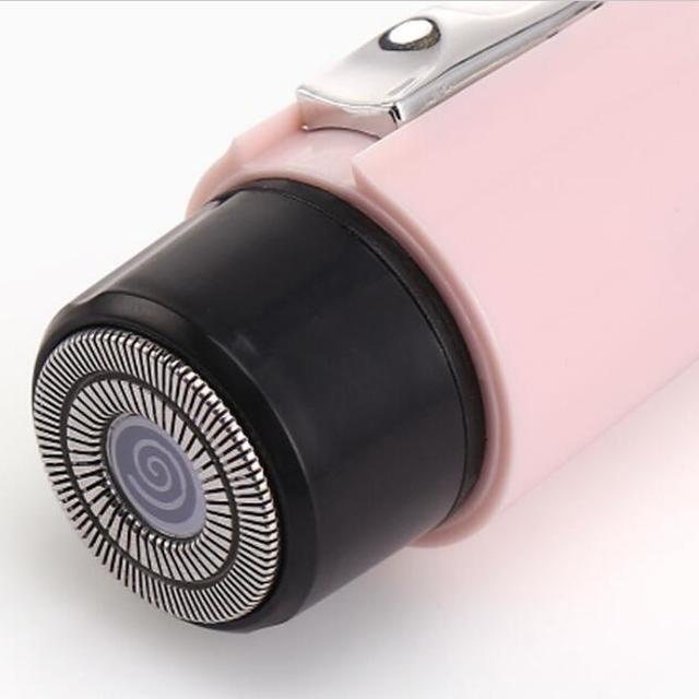 Hot selling waterproof 12v electric portable lady MINI pink back hair shaver pen battery razor shaving machine