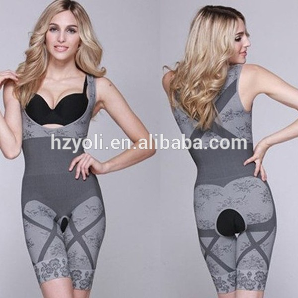 Fashion Underwear Sexy Women Shapewear Perfect Women's Full Body Wraps Bodysuit Bamboo Body Shaper