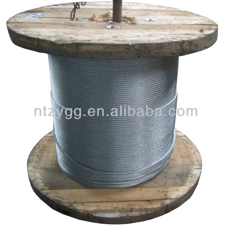 6x7 6x12 6x24 used wire rope for sale 6x36 1.5 inch rope,7x7 7x19 galvanized cable