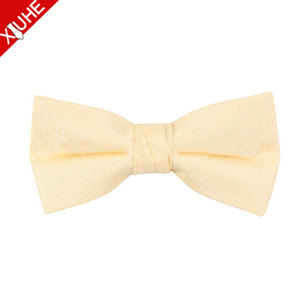 Fashionable Custom Bowtie 100% Polyester solid yellow Bow Tie