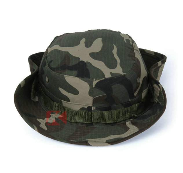 Wholesale Woodland Camo Boonie Hat Army Green Military Bush Hats ... bf235eb7240a