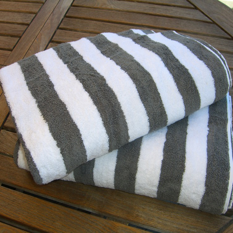 Wholesale Large Sand Free Stripe Cotton Soft Custom Size Beach Towel