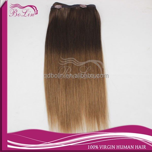 cheap 100% human hair Without chemical process real virgin clip in hair extension