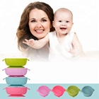 FDA Approval Food Grade Feeding Dining Tableware Toddler Kids Soft Baby Feeding Products Suction Silicone Bowl