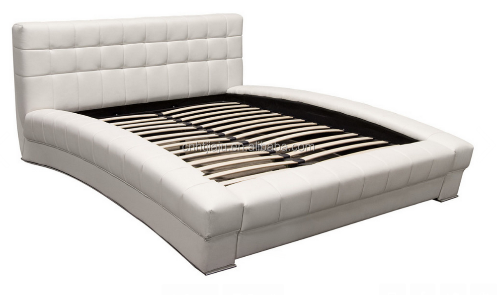 Belaire Collection, California King Bonded Leather Tufted Bed, White