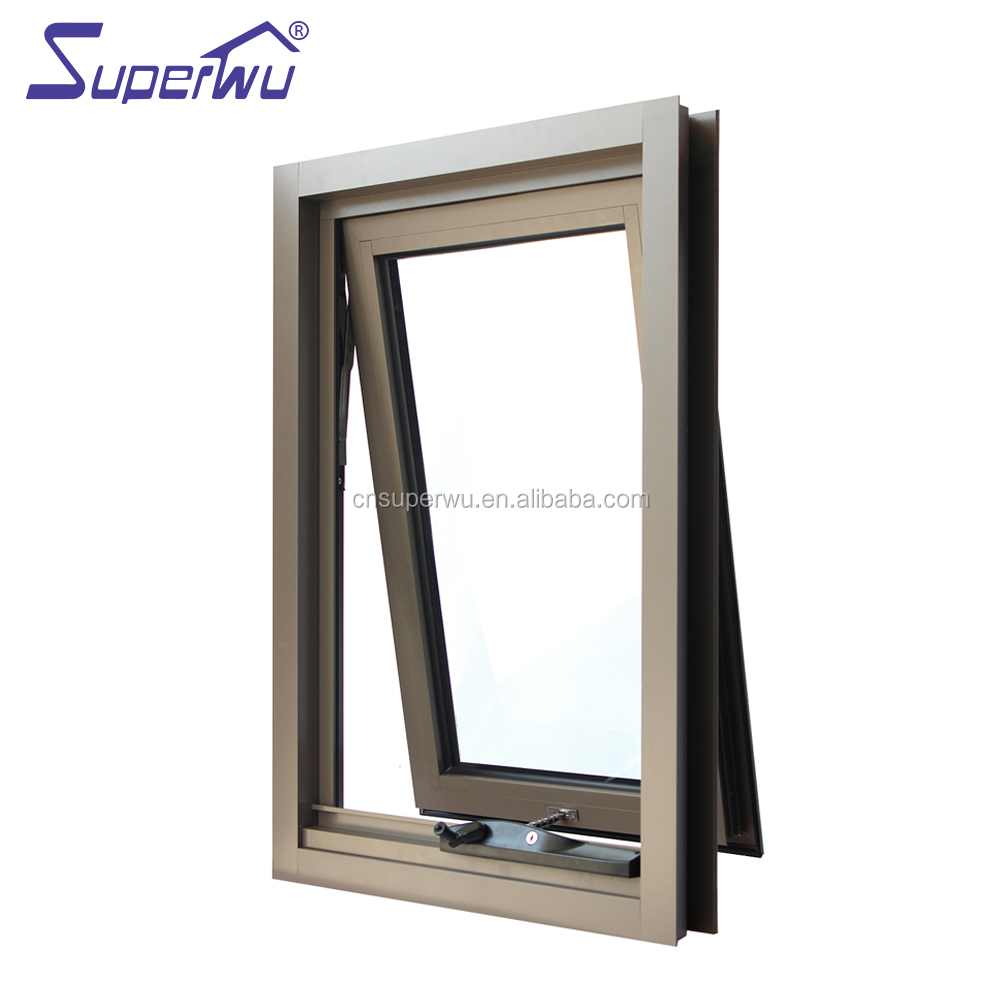Aluminum Alloy Frame Top Hung Cat Opening Outwards Window