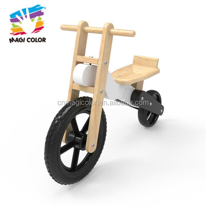Wholesale promotional wooden no pedals walker bike for children W16C190