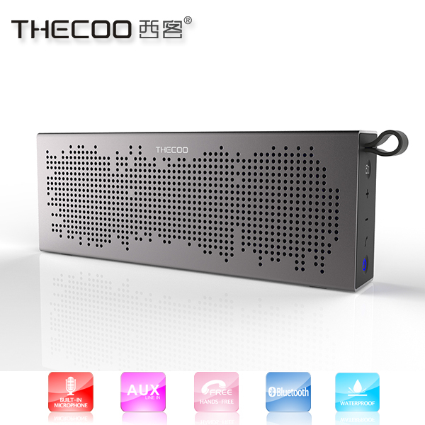 THECOO BTD718K waterproof bluetooth speaker with dancing music for mobile phones