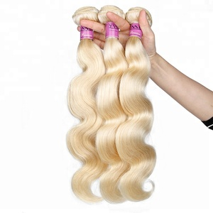 Raw brazilian honey blonde 613 virgin remy hair colors extensions weaving