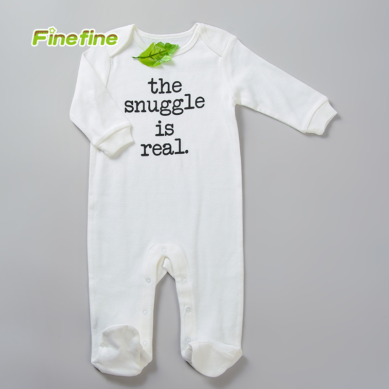 Long Sleeve 100% Cotton Interlock Baby Clothes Romper With Long Leg