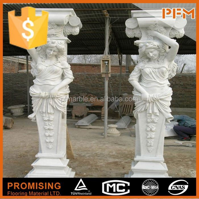 simple is the best yellow stone column decorative inside
