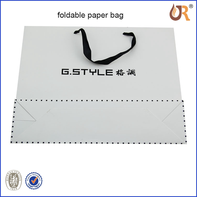 FSC Certificate New Premium Distributing Customized Promotional White/Brown Kraft Paper Bag Printed Clothes Paper Bag