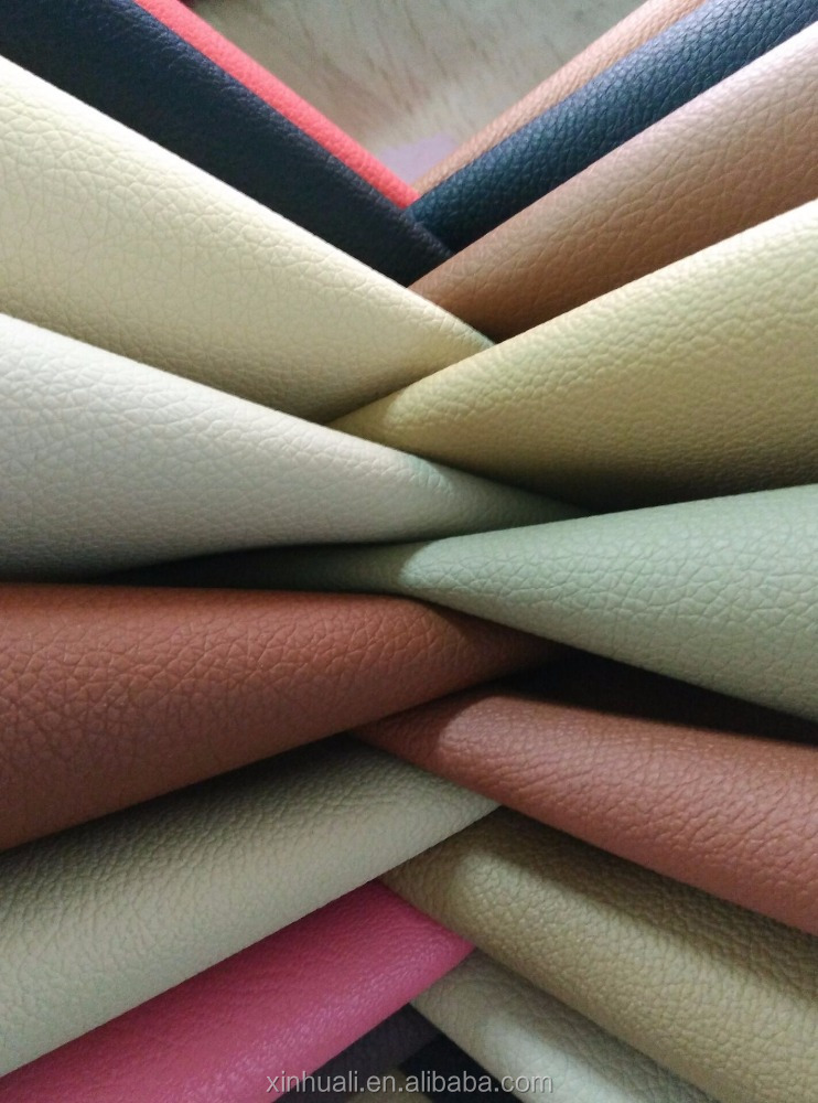 Enbossed PVC <strong>leather</strong> with knitted for bags/sofa