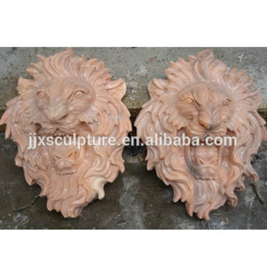 natural marble stone lion head statue wall decoration water fountain sculpture