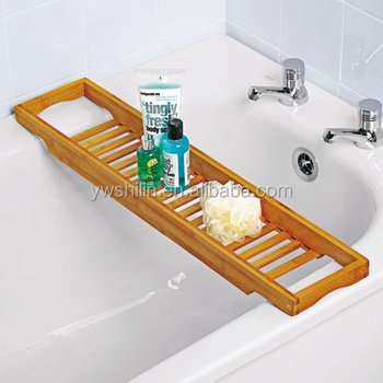 New design 100% handmake bamboo bathtub rack ,bamboo bath bridge ...