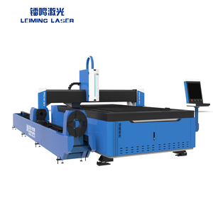 Combine fiber laser cutting machine special for metal tube and metal sheet cutting with high speed and good cutting performance