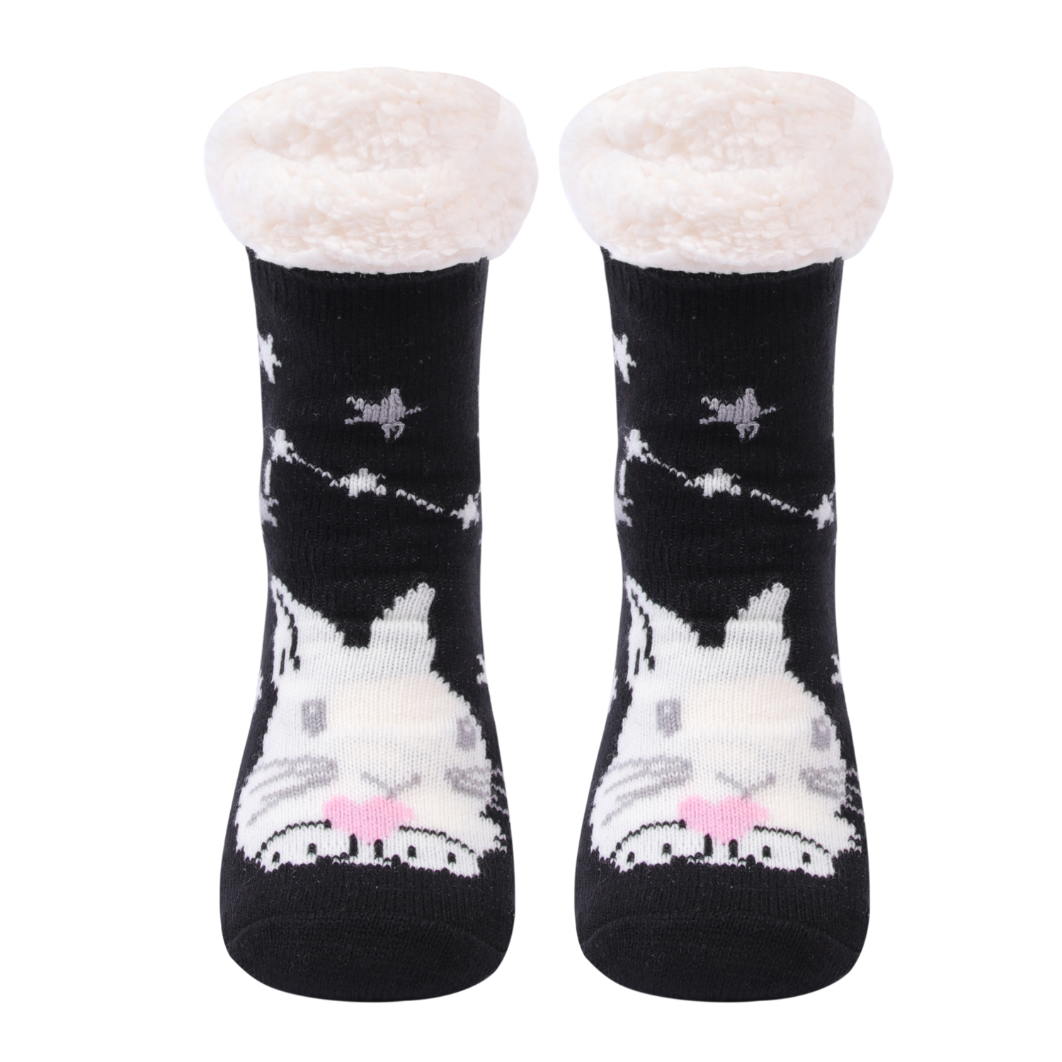 custom 3d cartoon cute woman ski packaging  christmas socks