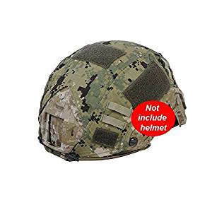 H World Shopping Military Hunting Shooting Gear Combat Fast Helmet Cover PJ BJ Base Jump Camouflage Helmet Cover for Army Tactical Airsoft Paintball, without Helmet, 4 Colors AT FG, Atacs, Digital Desert, Digital Woodland