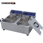 220V/50Hz 10L+10L Tank Capacity Double Tank Electric Deep Fryer