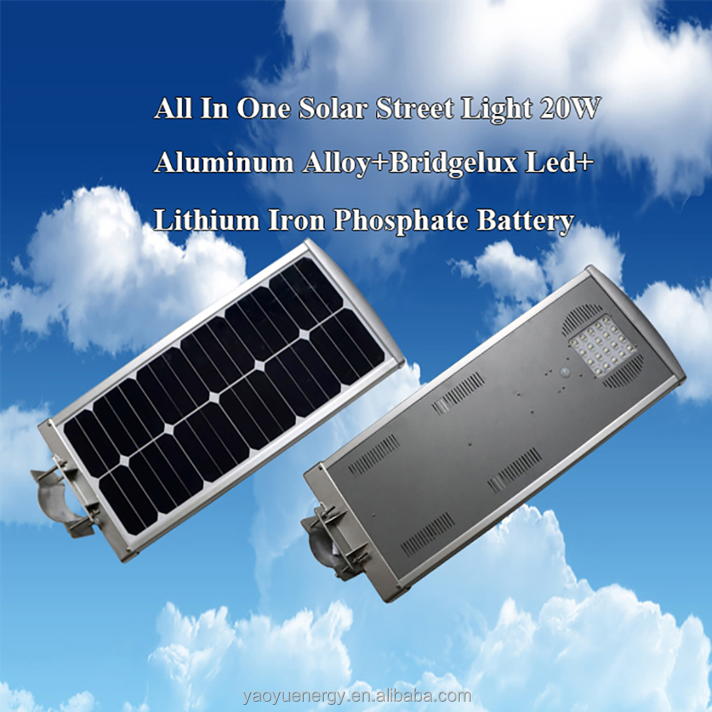 Wholesale Outdoor SolarLED Street Lamp High Quality 20w Solar Garden Lights
