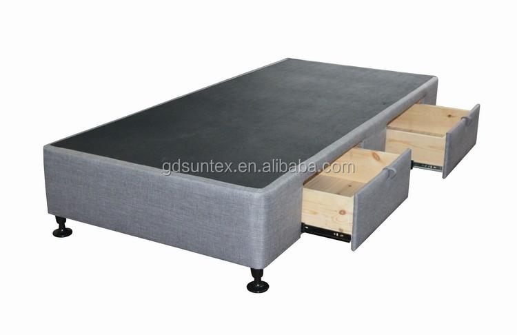 Letto Singolo Con Cassetti : Mobili camera da letto in tessuto imbottito solido legno letto