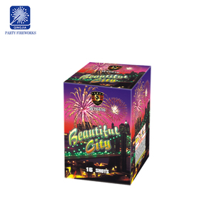 16 shots Beautiful City wholesale 1inch salutes cakes fireworks