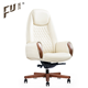 white leather boss office swivel chairs with wooden base