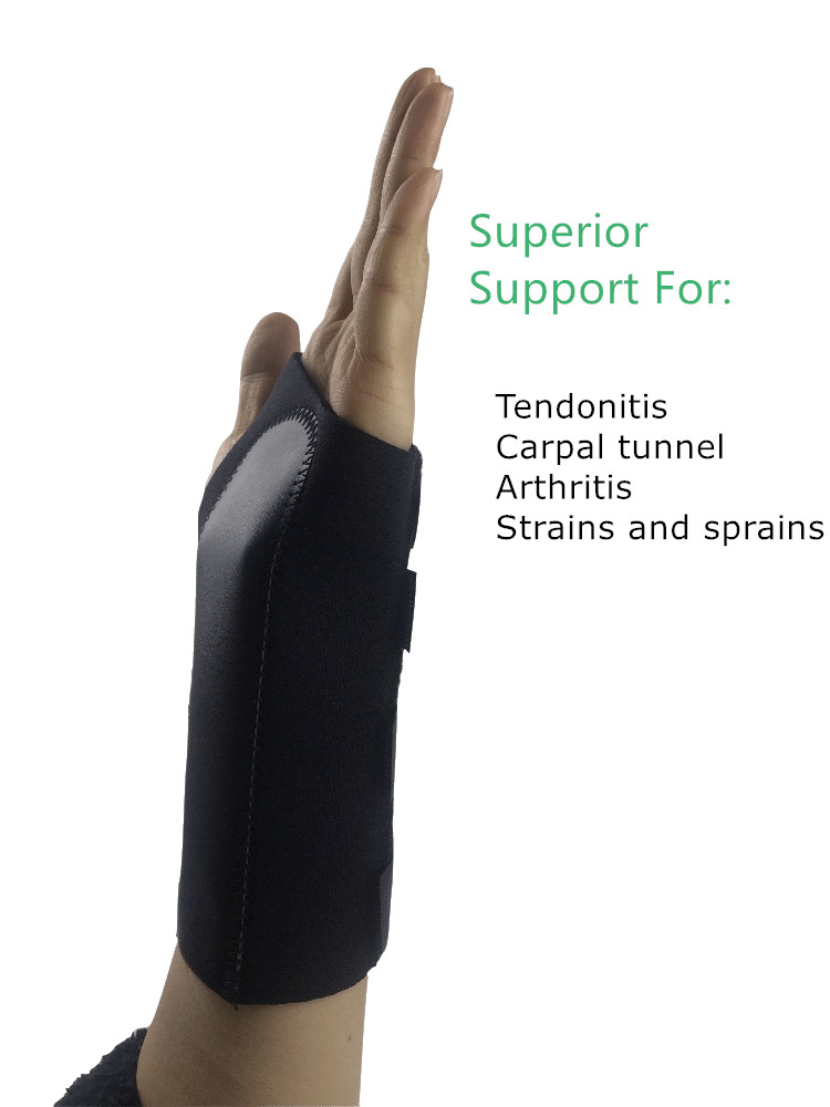 Neoprene Ajustável ortopédico Cinta do Pulso/pulso splint para túnel do carpo