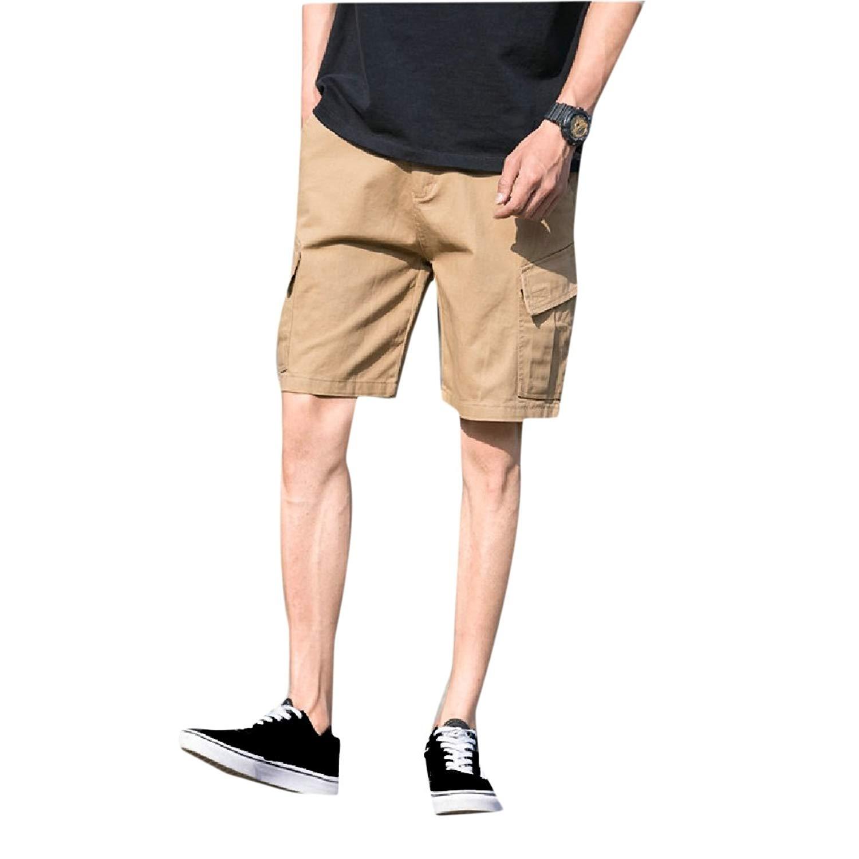 f276d9bf70 Get Quotations · Abetteric Men's Cargo Pants Summer Multi-Pocket Baggy  Bechwear Cargo Pants