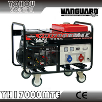 13000W Petrol 3 Phase Generator powered by Vanguard with electric start and battery.