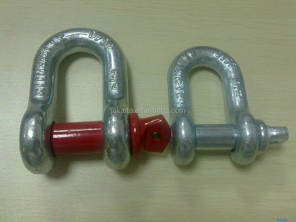 Hot Dip Galvanized Drop Forged Anchor bow Shackle
