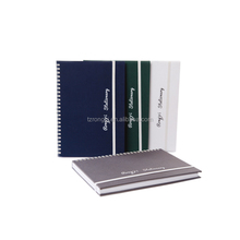 Wire-O diary/notebook with colth cover and elastic bound